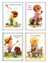 Childhood Dreams Birthday Cards, Box of 12