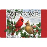 Welcome, Cardinals and Holly, Floor Mat