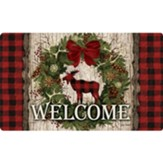 Welcome, Wreath, Woodland Christmas, Floor Mat