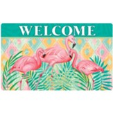 Welcome, Flamingos, Palms, Mat