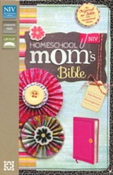 NIV Homeschool Mom's Bible: Daily Personal Encouragement, Italian Duo-Tone, Hot Pink - Slightly Imperfect
