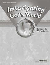 Investigating God's World (Grade 5)  Quiz and  Worksheet Book (Unbound Edition)