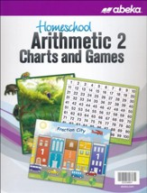 Abeka Homeschool Arithmetic Charts &  Games Grade 2 (New  Edition)