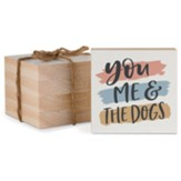 You Me & the Dogs Wood Coaster Set of 4