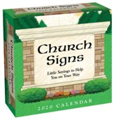 2020 Church Signs Day-To-Day Calendar