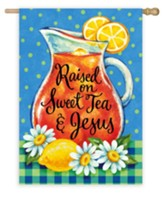 Raised on Sweet Tea & Jesus Flag, Large