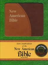 NAB New American Bible Personal Size, St Joseph Ed., Duotone Brown