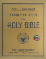 NABRE St. Joseph Family Bible, Large Type, Fully Illustrated  White Padded Cover