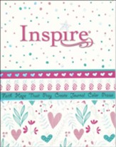 NLT Inspire Bible for Girls, Leatherlike Hardcover, Pink