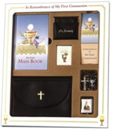 First Mass Book Premier Boxed Set, My First Eucharist Edition for Boys