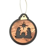 Nativity with Joseph and Mary, Star, Ornament, Round, 2-Tone