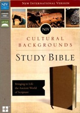 NIV Cultural Backgrounds Study Bible, Imitation Leather, Brown/Tan - Slightly Imperfect