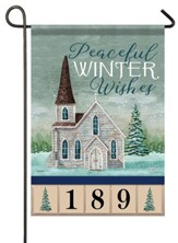 Peaceful Winter Wishes, Church, Address Flag