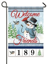 Welcome Friends, Snowman and Friends, Address Flag
