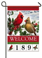 Welcome, Cardinals and Holly, Address Flag