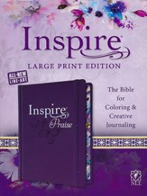 NLT Inspire Praise Large-Print Bible--hardcover, purple