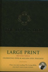 The Living Bible, Large Print Red Letter Edition, Green Hardcover with Thumb Index