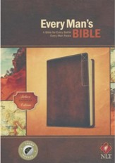 NLT Every Man's Bible, Deluxe Explorer Edition, LeatherLike, Brown, With thumb index