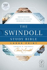 NLT The Swindoll Study Bible Large Print Hardcover