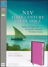 NIV First-Century Study Bible, Italian Duo-Tone Chocolate/Orchid