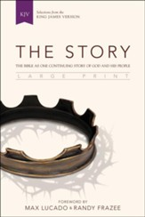 The Story, KJV, Large Print: The Bible as One Continuing Story of God and His People, Black - Slightly Imperfect