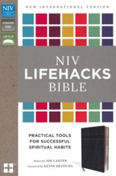 NIV Lifehacks Bible, Imitation Leather, Charcoal - Slightly Imperfect