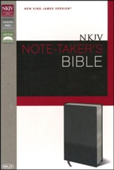 NKJV Note-Taker's Bible, Italian Duo-Tone Charcoal  - Imperfectly Imprinted Bibles