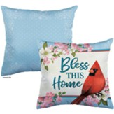 Bless This Home, Cardinal and Blossoms, Pillow
