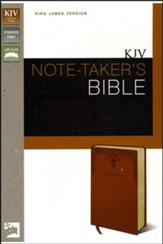 KJV Note-Taker's Bible, Italian Duo-Tone - Caramel