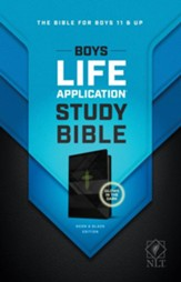 NLT Boys Life Application Study  Bible, LeatherLike, Neon/Black