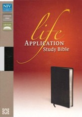 NIV Life Application Study Bible, Top Grain Leather Black - Imperfectly Imprinted Bibles