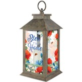 Bless This Home, Colorful Garden,  Lantern