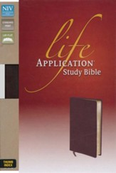 NIV Life Application Study Bible, Bonded Leather, Burgundy, Indexed