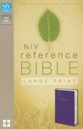 NIV Largeprint, Reference Bible, Navy - Imperfectly Imprinted Bibles