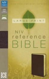 NIV Largeprint, Reference, Burgundy - Slightly Imperfect