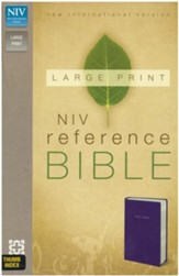 NIV Largeprint, Reference Bible, Navy, Thumb-Indexed  - Imperfectly Imprinted Bibles