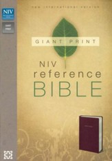 NIV Reference Bible, Giant Print, Burgundy, Imitation Leather