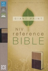 NIV Reference Bible, Giant Print, Latte/Mocha Duo-Tone