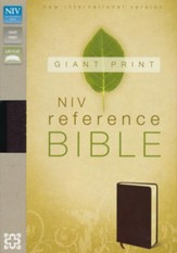 NIV Reference Bible, Giant Print, Burgundy - Imperfectly Imprinted Bibles