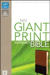 NIV Compact Bible, Giant Print, Leather-Look, Burgundy  - Slightly Imperfect