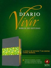 Biblia de estudio del diario vivir NTV, SentiPiel, Gris/Verde  (NTV Life Application Study Bible, LeatherLike, Gray/Green)