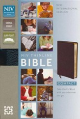 NIV Compact Thinline Bible, Black - Imperfectly Imprinted Bibles