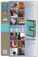 NIV Compact Thinline Bible, Turquoise/Chocolate Duo-Tone, Limited Edition - Slightly Imperfect