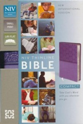 NIV Compact Thinline Bible, Lavender Duo-Tone - Slightly Imperfect
