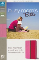 NIV Busy Mom's Bible, Pink/Hot Pink Duo-Tone - Imperfectly Imprinted Bibles