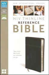 NIV Thinline Reference Bible, Black/Black Duo-Tone