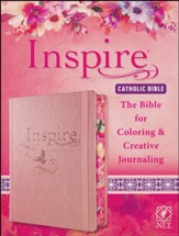 NLT Inspire Catholic Coloring/Journaling Bible, hardcover, Rose