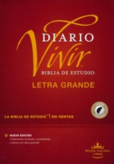 RVR60 Biblia de estudio del diario  vivir, letra grande, RVR60 Large-Print Life Application Study Bible--hardcover, indexed