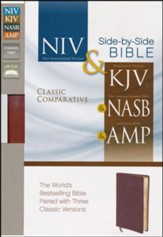 Classic Comparative Side-by-Side Bible (NIV, KJV, NASB, Amplified) , Bonded Leather