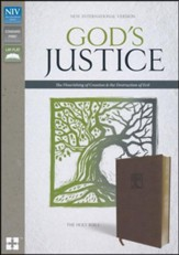 NIV God's Justice: The Holy Bible--soft leather-look, brown